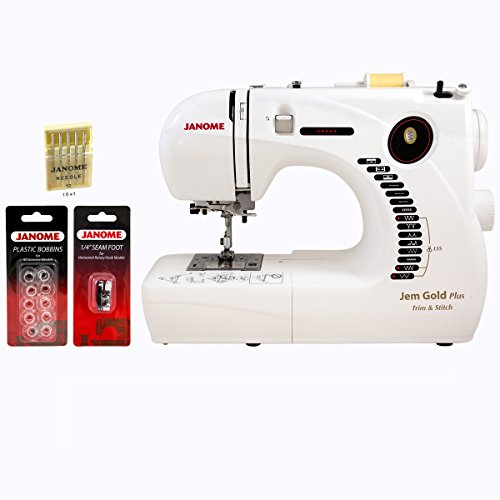 Janome 661G Jem Gold Plus Trim and Stitch Sewing Machine with Accessories (Janome 760 Sewing Machine)