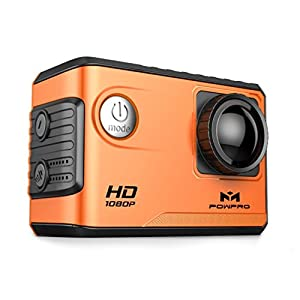 Sports Camera,Powpro PowX PP-S100 GPS 4K WIFI Underwater Sports Action Camera Anti-Shaking with Gyroscope 20M