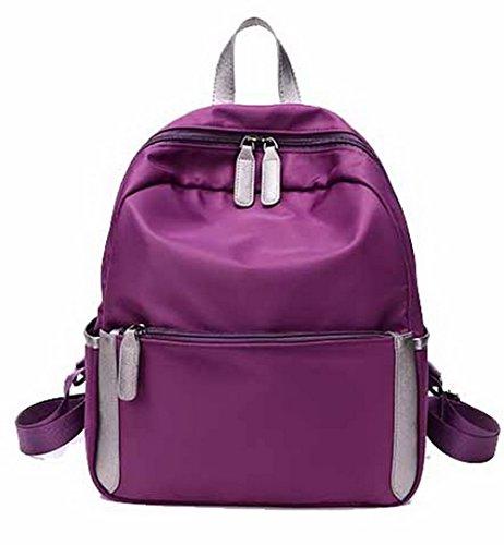 dos Daypacks GMBBB180727 Femme à Deux Sacs tons randonnée Nylon Daypack AgooLar Violet de 1zPxRRq