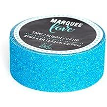 "Heidi Swapp Marquee Christmas Glitter Tape, 7/8"" x 9', Light Blue"