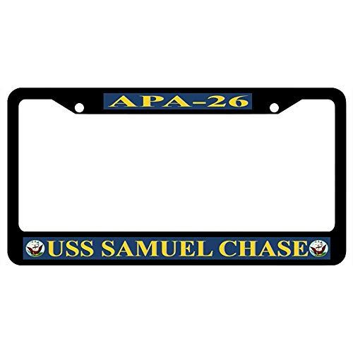 Light year GT Funny License Plate Frame Unique Design Vanity License Plate, Metal Car License Plate12×6inch USS Samuel Chase APA-26