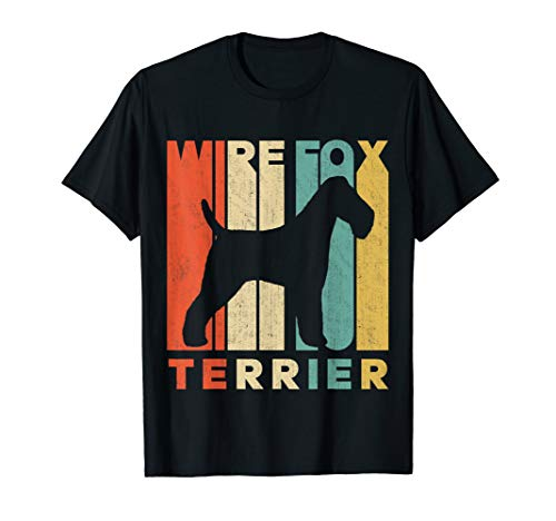 Vintage Retro Wire Fox Terrier Silhouette T-Shirt
