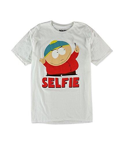 South Park Mens Selfie Cartman Graphic T-Shirt white 2XL