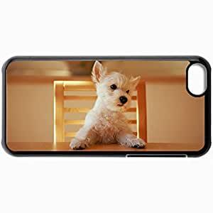 Fashion Unique Design Protective Cellphone Back Cover Case For iPhone 5C Case Chair Table Puppy Black