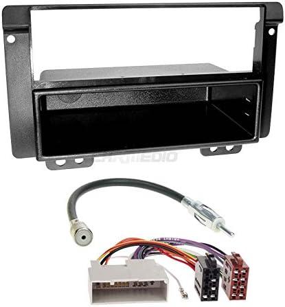Carmedio Land Rover Freelander Ln 04 06 1 Din Autoradio Einbauset In Original Plug Play Qualität Mit Antennenadapter Radioanschlusskabel Zubehör Und Radioblende Einbaurahmen Schwarz Navigation