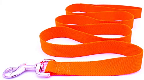 Hatfield Pet Specialties Dog Leash, Premium Quality Durable Nylon Mesh, Comfortable, Strong, Easy to Use Leash (Large, Hunter Orange)