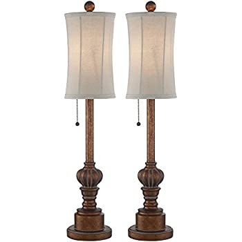 Bertie 28 high tall buffet table lamps set of 2