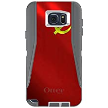 CUSTOM Grey / White OtterBox Defender Series Case for Samsung Galaxy Note 5 - USSR Soviet Flag Waving