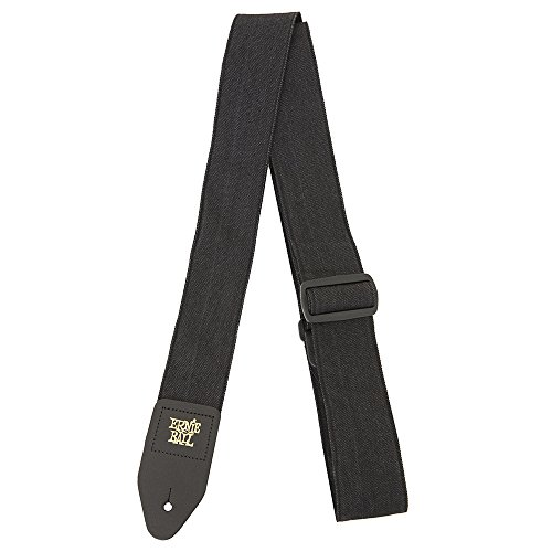 denim guitar strap black fade