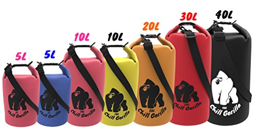 Chill-Gorilla-Pro-Waterproof-Dry-Bags-Roll-Top-Dry-Compression-Sack-Keeps-Gear-Dry-for-Kayaking-Beach-Rafting-Boating-Hiking-Camping-Fishing-and-Outdoors