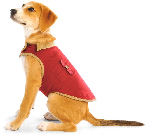 Coats Dog Red Barn (Dog Gone Smart 8-Inch Barn Jacket for Dogs, Berry)