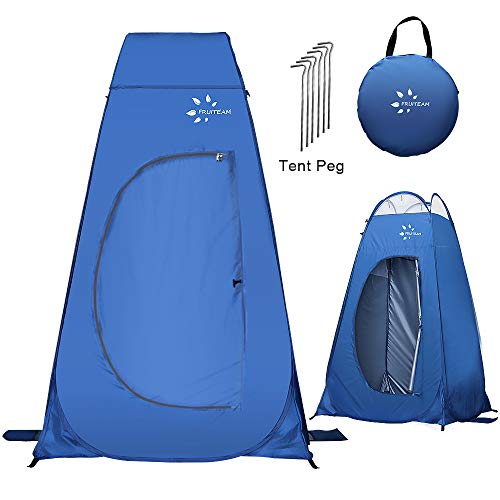 FRUITEAM Pop Up Privacy Tent, Changing Room Tent for Portable Toilet Shower Silver Coated Dressing Room Tent UV Protection Privacy Shelter Camping Cabana, Blue (Blue02)