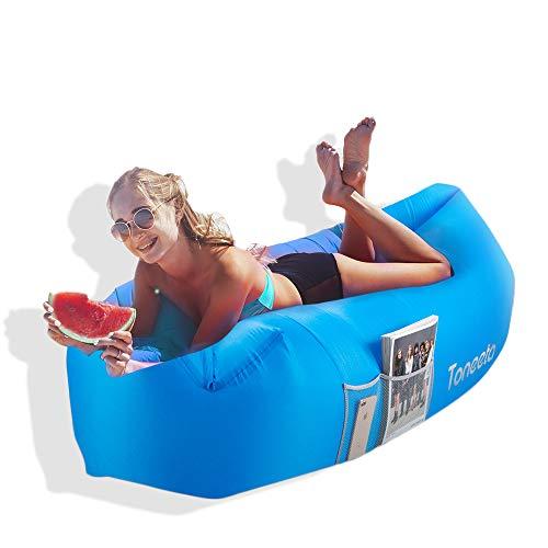 Toneeta Inflatable Lounger Air Sofa (Blue) Only $17.99