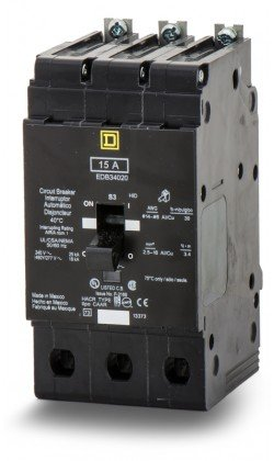 SQUARE D BY SCHNEIDER ELECTRIC EDB34125 MINIATURE CIRCUIT BREAKER 480Y/277V 125A by Square D