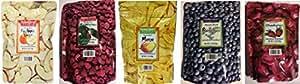 Trader Joe's Dried Fruit Variety Pack (Mango; Strawberries; Fuji Apple; Raspberries; Blueberries)1.2 oz (Pack of 5)