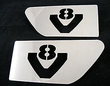 2 láminas laterales de acero inoxidable para Scania R V8 ...