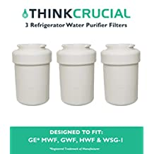 3 GE Refrigerator Water Purifier Filter Fits GE MWF GWF HWF 46-9991 WSG-1 WF287 & EFF-6013A