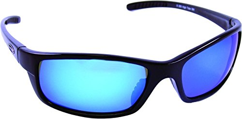 - Sea Striker High Tider Polarized Sunglasses with Black Frame,Blue Mirror and Grey Lens (Fits Medium to Large Faces)