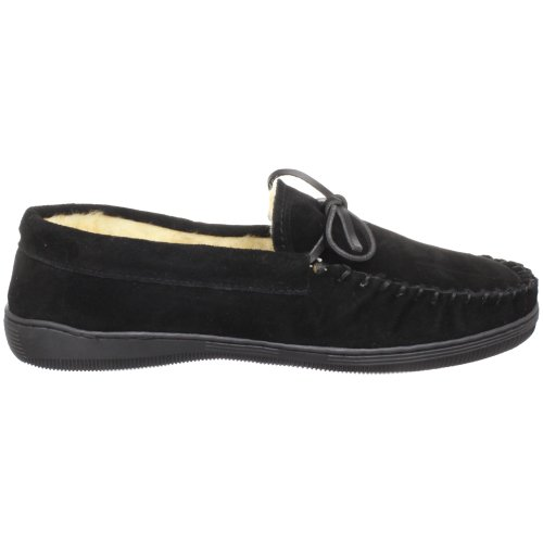 Tamarac Por Slippers International 7161 Hombres Camper Mocasin Negro