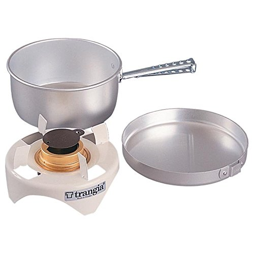 Trangia - Spirit Alcohol Stove Camping Cookset | Includes: Alcohol Stove, Pot Stand, Pot, Frypan, & Handle by Trangia