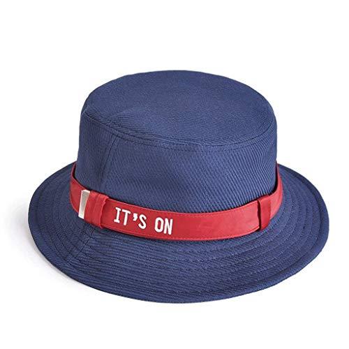 color Del El Sol De Tapa Al Blau Azul Aire Usar La Libre Para Vacaciones Fácil Fisherman Hat Bastante Summer Lady Tanque Sombrero Biran q40a4R
