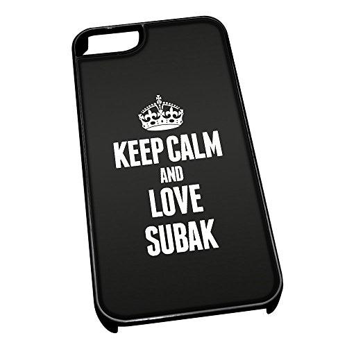 Nero cover per iPhone 5/5S 1916nero Keep Calm and Love Subak