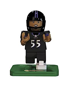 NFL GEN3 Baltimore Ravens Terrell Suggs Limited Edition Minifigures, Purple, Small