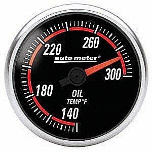 Auto Meter 6456 Nexus 2-1/16'' 140-300 F Full Sweep Electric Oil Temperature Gauge