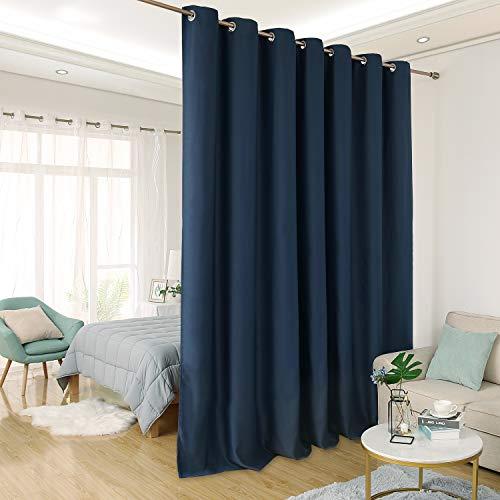 Deconovo Thermal Insulated Patio Door Curtain Panel Wide Bla
