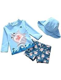 Toddler Baby Boys Two Piece Swimsuit Rash Guard Sunsuit Swimwear Sets