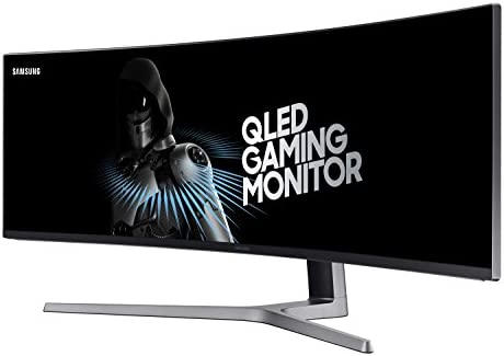 Amazon Com Samsung 49 Inch Chg90 144hz Curved Gaming Monitor Lc49hg90dmnxza Super Ultrawide Screen Qled Computer Monitor 3840 X 1080p Resolution 1ms Response Freesync 2 With Hdr Computers Accessories