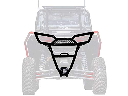 (SuperATV Heavy Duty Rear Bumper for Polaris RZR XP 1000/4 1000 (2014-2018) - Wrinkle Black)