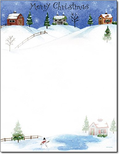 Folk Village - Great Papers! Holiday Stationery, 8 1/2