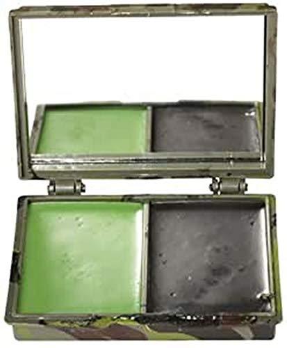 Mil-Tec Camo Face Camo pintura 2 colores con el espejo Woodl