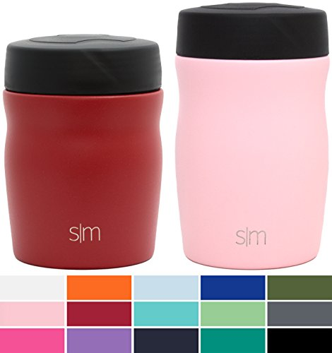 Simple current Rover - 16oz Rover Food Jar - pressure Insulated 18/8 Stainless aluminum Leak Proof Food storage devices Container - Hydro Thermos Flask - Blush