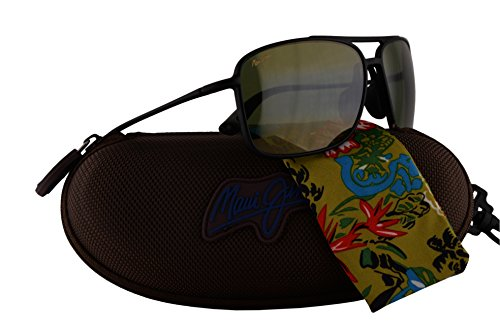Maui Jim Kaupo Gap Sunglasses Matte Black w/Polarized Green Lens - Kona Maui Sunglasses Jim