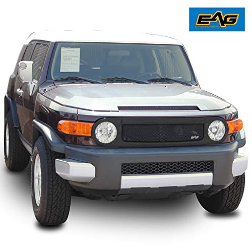 (EAG Matte Black Replacement Grille Stainless Steel Mesh with ABS Shell for 07-14 Toyota FJ)