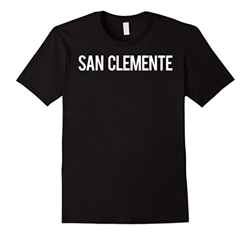 Mens San Clemente T Shirt Cool California CA funny cheap gift tee Large - Clemente Shops San