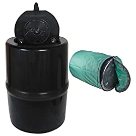Backpackers Cache Bear Resistant Food Container w/ Carrying Case 121 This Bear Vault is deigned to be bear resistant. It is 12 inches long and 9 inches in diameter, which is too large for most bears' jaws. This strong plasti