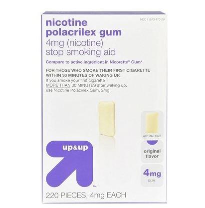 Original Flavor Lozenges - Up & Up Original Flavor 4-Mg. Nicotine - 220 Ct.- Gum