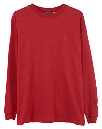 Calvin Klein Plain T-Shirt Mens Style: HMC3440-Red Size: S by Calvin Klein