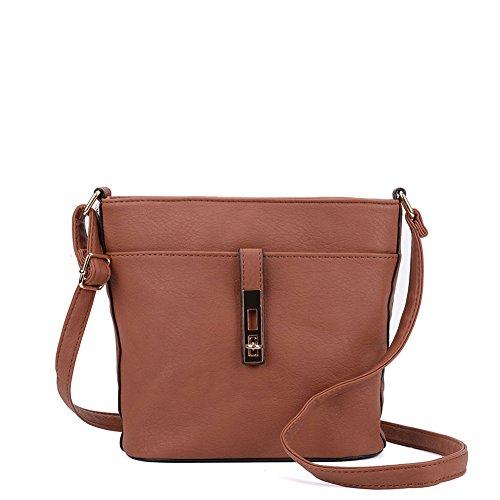 colours Women Designer Bag 7 Cross Sally Tan Body Lock Young Fashion qnwwzx1p