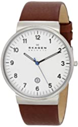 Skagen Klassik Men's Three Hand Leather Watch