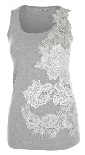 Innocent Lifestyle - Camiseta sin mangas - para mujer gris