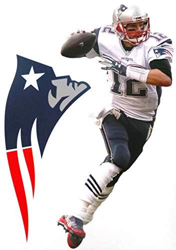 - FATHEAD Tom Brady Mini New England Patriots Logo Official NFL Vinyl Wall Graphic 7