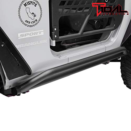 Tidal Tubular Steel Rock Slider Guard for 07-18 Jeep Wrangler JK