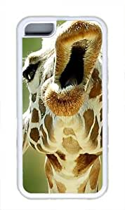 Funy animal cute Custom Rubber(TPU) white Case for iphone 5c iphone 5c by Cases & Mousepads