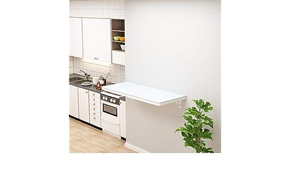 ZKX Mesa Pared/Plegable Mesa De Comedor De Cocina, Vidrio Templado, Rack de Almacenamiento hogar, Garaje/balcón/lavadero: Amazon.es: Hogar