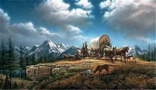 Terry Redlin Limited Edition Signed & Numbered Print O BEAUTIFUL FOR SPACIOUS SKIES with COA (28.5