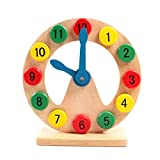 HuaYang Wooden Clock Time Teaching Toys Baby Kids Educational Toys